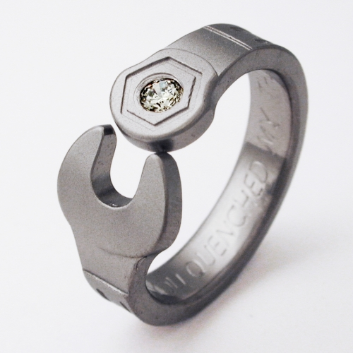 Enfield 1 Titanium Ring With Wrenches Titanium Wedding