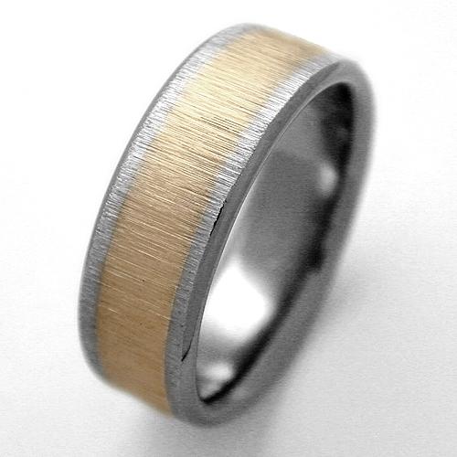 Golden Titanium Ring With Gold Titanium Wedding Rings