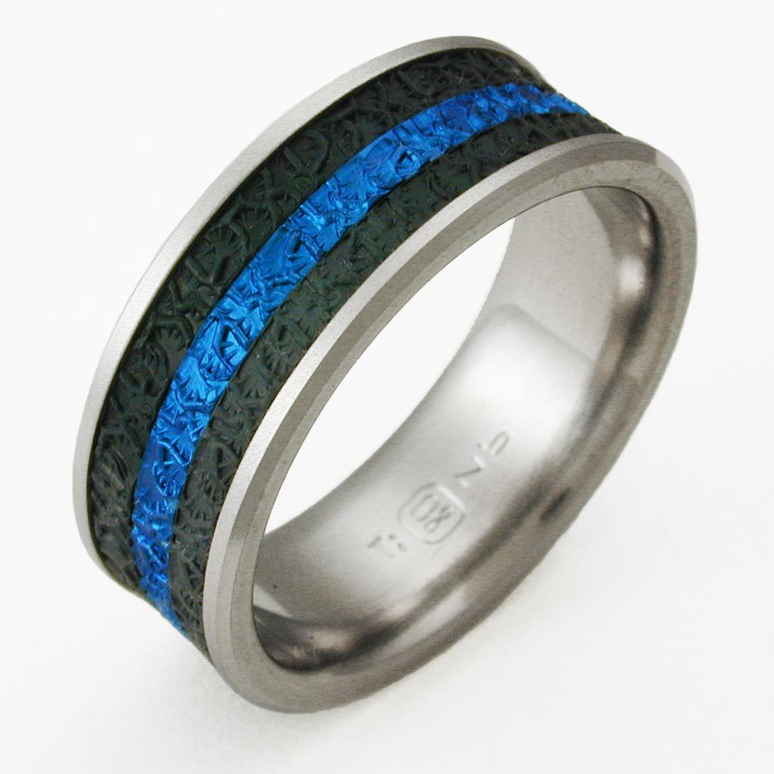Newman 3 Titanium Ring With Niobium Titanium Wedding