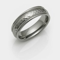 Hammered Titanium Rings and Bands | Hammer Finish Rings ...