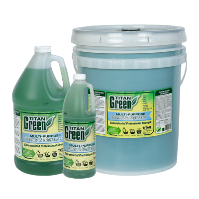 Titan Green available in quart, gallon, and 5-gallon bucket
