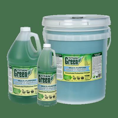Titan Green available in quart, gallon, and 5-gallon bucket