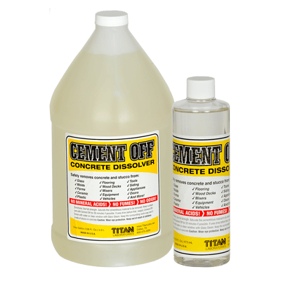 Cement Off Concrete Dissolver in quart and gallon size
