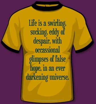 Image result for life is a sucking swirling eddy of despair