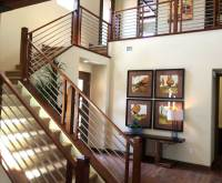 Stair Railing Remodels, Custom Woodworking, Fireplace