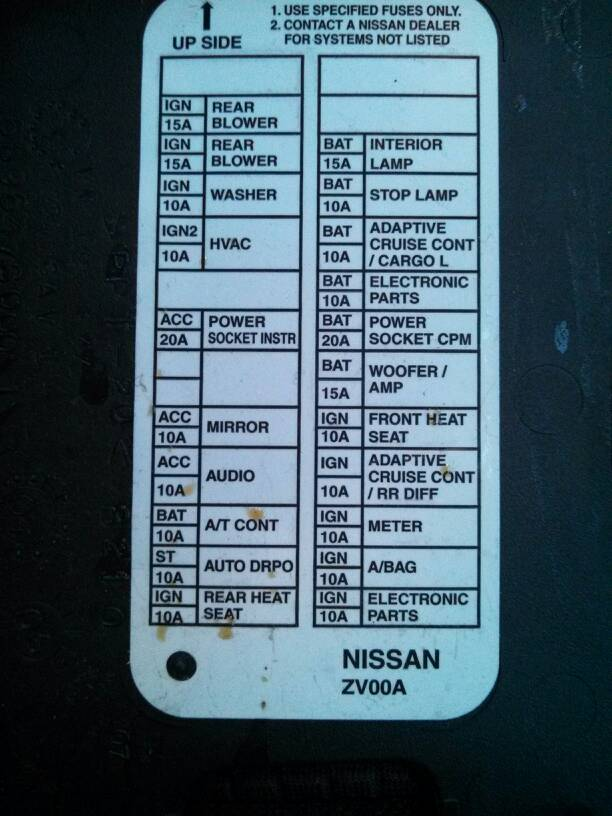 2007 nissan armada fuse diagram trailer