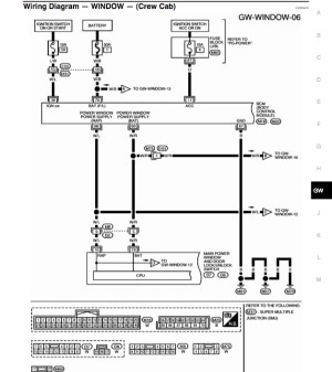 i need wiring diagram for power window switches  Nissan