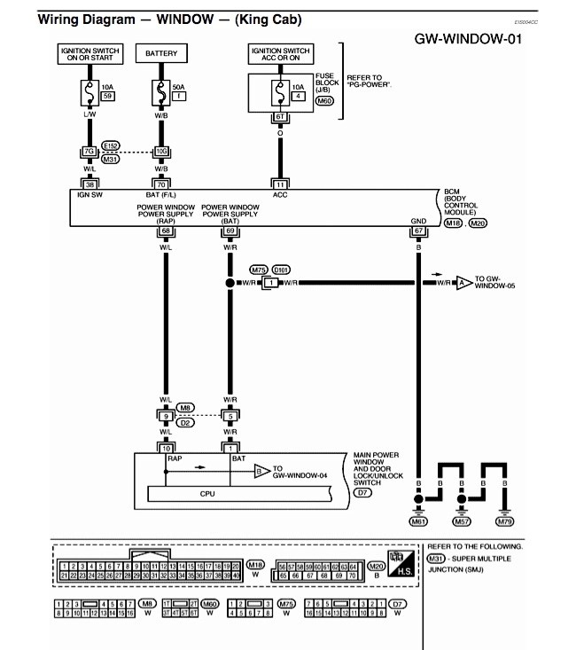 2006 nissan pathfinder wiring diagram lewis dot practice worksheet i need for power window switches - titan forum
