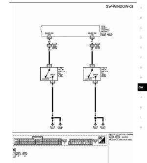 i need wiring diagram for power window switches  Nissan