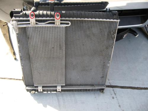 small resolution of  radiator removal lots of pics and step by step 53 radiator trans