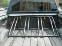 pvc bike rack - wheels on - Nissan Titan Forum
