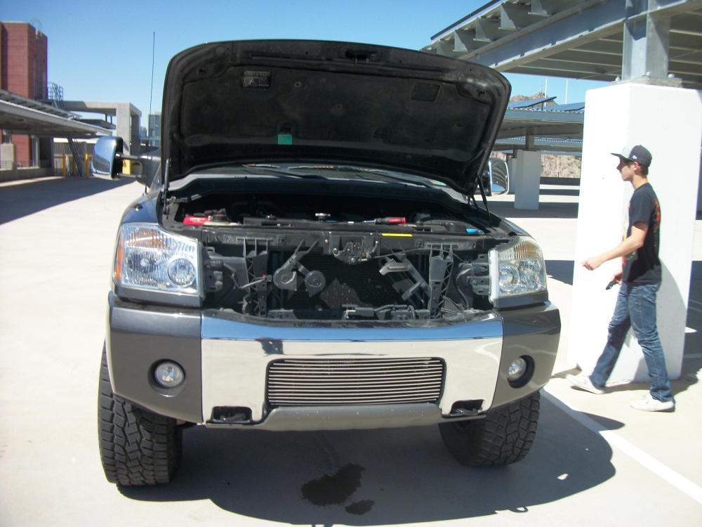 medium resolution of aluminum radiator nissan titan photos