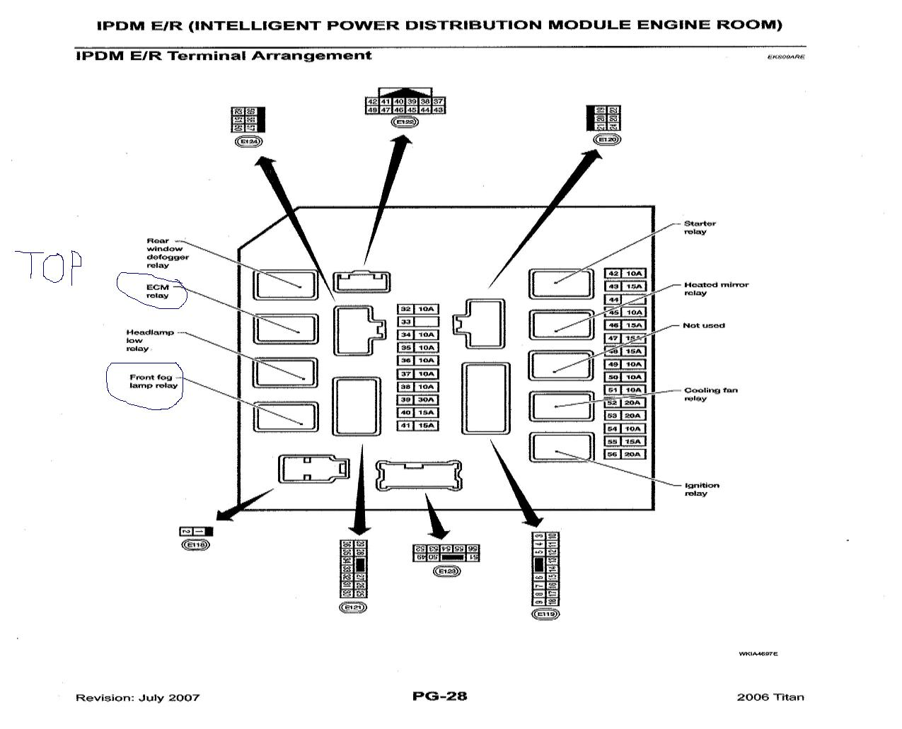hight resolution of nissan note fuse box diagram wiring library 2006 nissan altima fuse relay diagram here39s a diagram of the ipdm