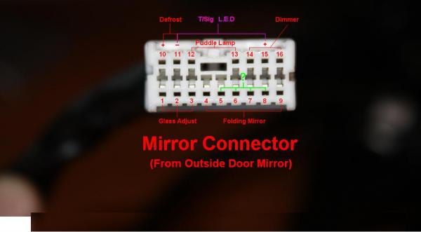 Power Mirror Wiring Diagram On Electric Mirror Switch Wiring Diagram