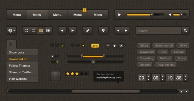 Butterscotch - Modern Web UI Kit