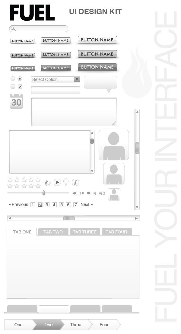 FYI Free Web UI Wireframe Kit