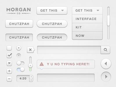 Chutzpah UI Design Kit