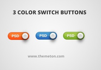 3 Color Switch Buttons (PSD)