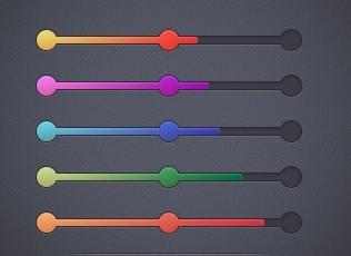 5 Colors Progress Bar UI Elements