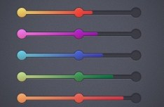 5 Colors Progress Bar UI Elements