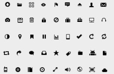 81 Dark Glyph Icon Set