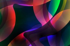 Abstract Flow Lines Vector Background 04