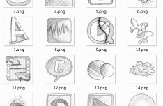Application Sketch Icons