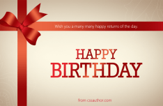 Beautiful Birthday Greeting Cards PSD