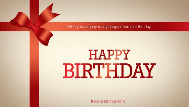 Beautiful Birthday Greeting Cards PSD