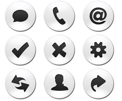 Business Round Web buttons