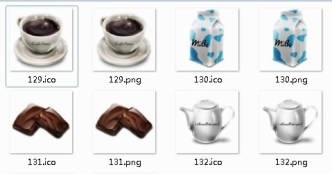Cafe Items Icons