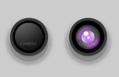 Camera Lens Layered PSD
