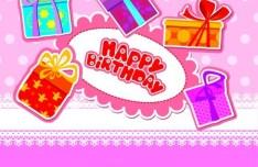 Cartoon Birthday Card Vetcor 03