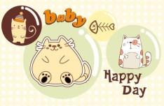 Cartoon Cats Vector Illustration 02