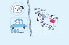 Cartoon Puppy Vector Illustration