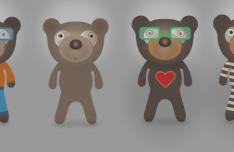 Cartoon Teddy Bears Vector