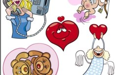 Cartoon Valentine's Day Elements Vector