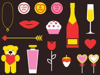 Cartoon Valentines Vector Elements