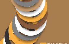 Circular Ring Vector Background 01