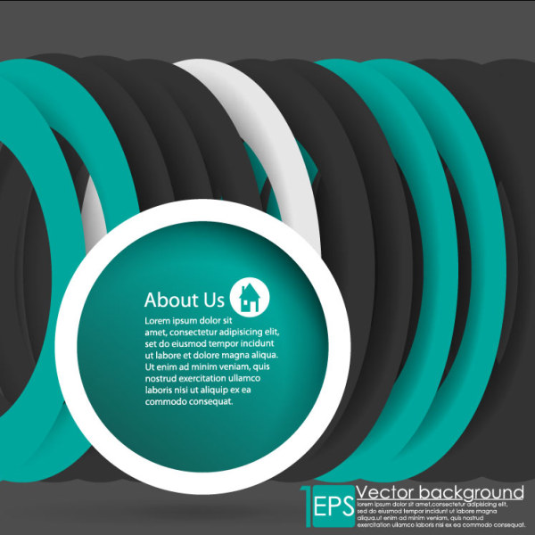 Circular Ring Vector Background 02