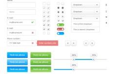Clean White Web UI Kit (PSD)