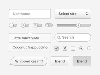 Coconut User Interface PSD
