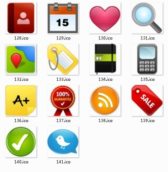 Common Icons For Shopping Website