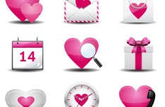 Cute Valentine's Day Vector Icons