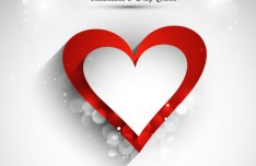 Elegant Valentine's Day Card Template Vector 01