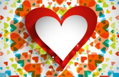 Elegant Valentine's Day Card Template Vector 04