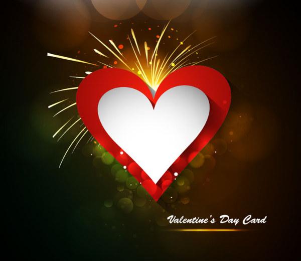 Elegant Valentine's Day Card Template Vector 06
