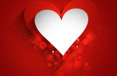 Elegant Valentine's Day Card Template Vector 10