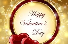 Elegant Valentine's Day Vector Background With Red Heart