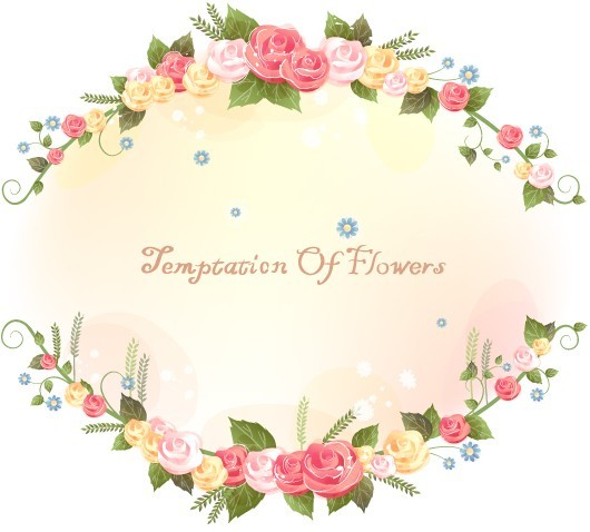 Flower and Vine Vector Border Design 01